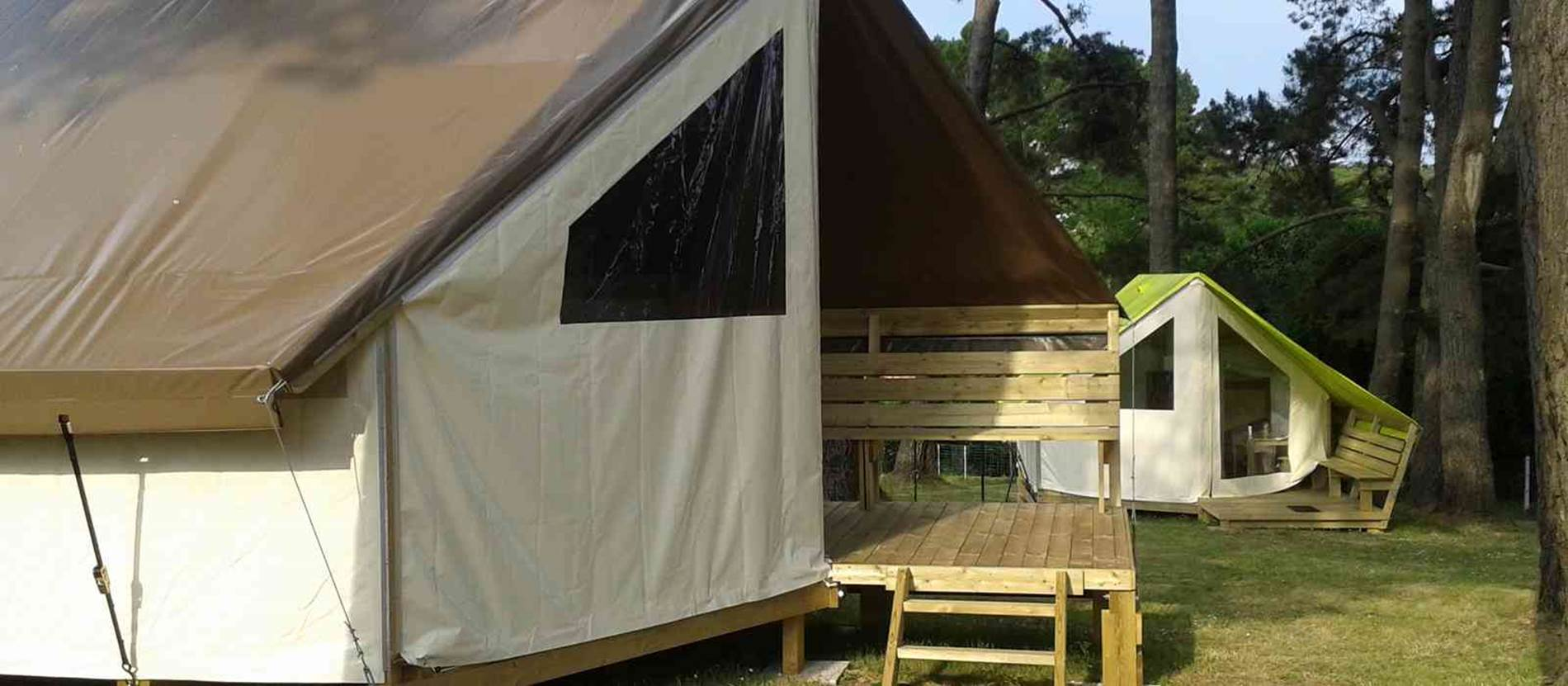 Tentes Aménagées Ecolodges © Camping-L-Ocean-Le-Palais