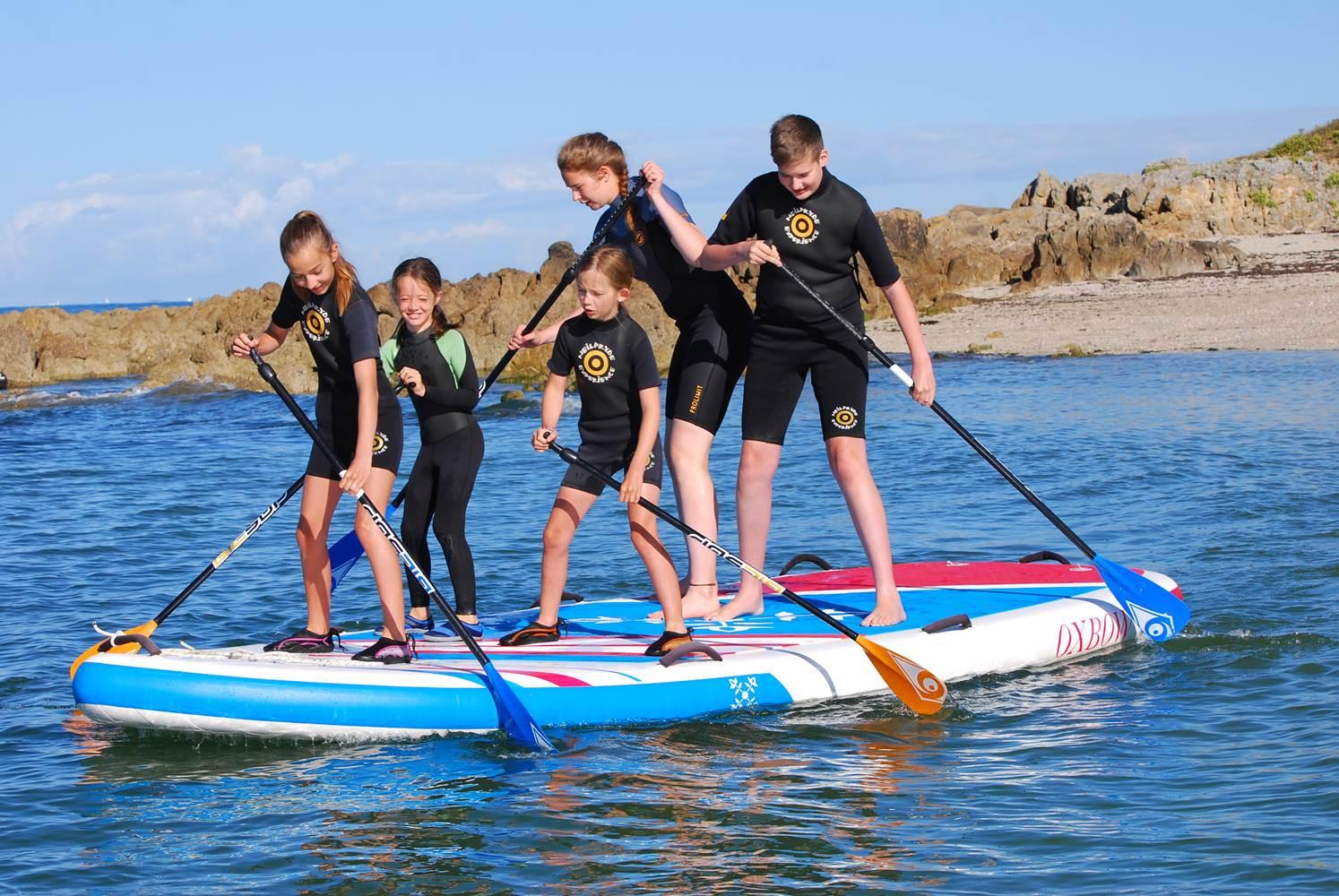 Club Nautique du Rohu - Location de paddle géant ©