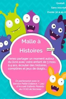 Malle à Histoires à la Médiathèque de Sarzeau