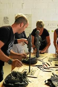 Fête de fin de résidence des artistes à la Villa Gregam