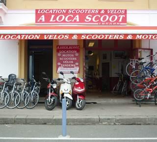LOCATION DE VELO, SCOOTER, MOTO : A LOCA SCOOT & VELOS