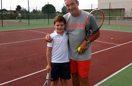 Professeur de tennis : Franck Grolier