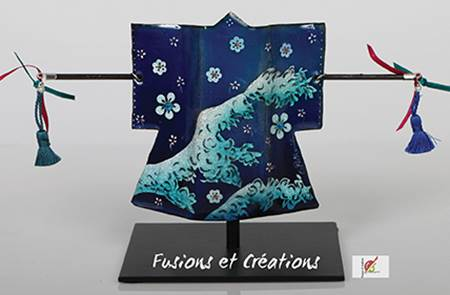 Fusions et créations - émail sur cuivre et tôle - peinture sur soie et porcelaine