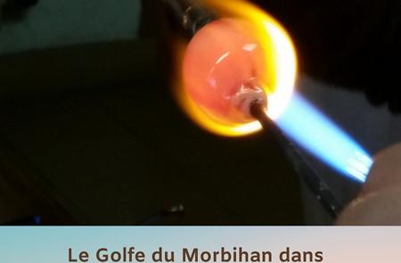Démonstration filage de perles de verre dans la flamme