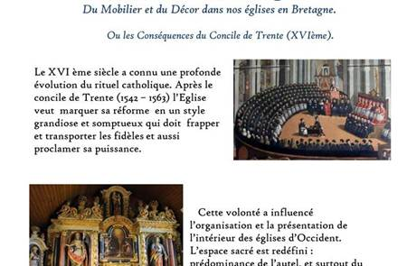 Conférence : Mobilier et décor dans nos églises Bretonnes