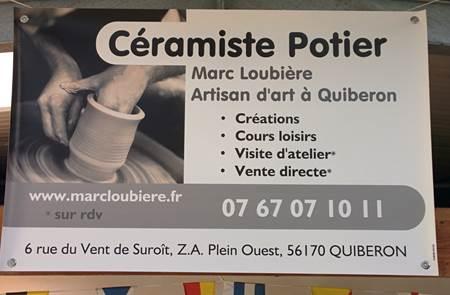 Démonstration de Tour de potier à l'atelier Marc Loubière