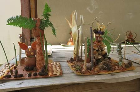 Créations insolites avec argile et plantes