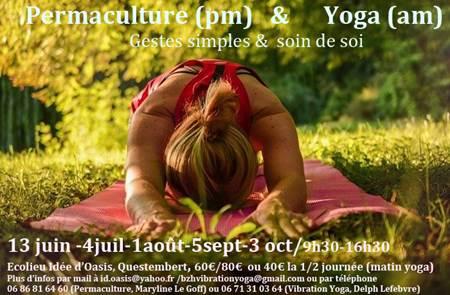 Journée permaculture et yoga en extérieur